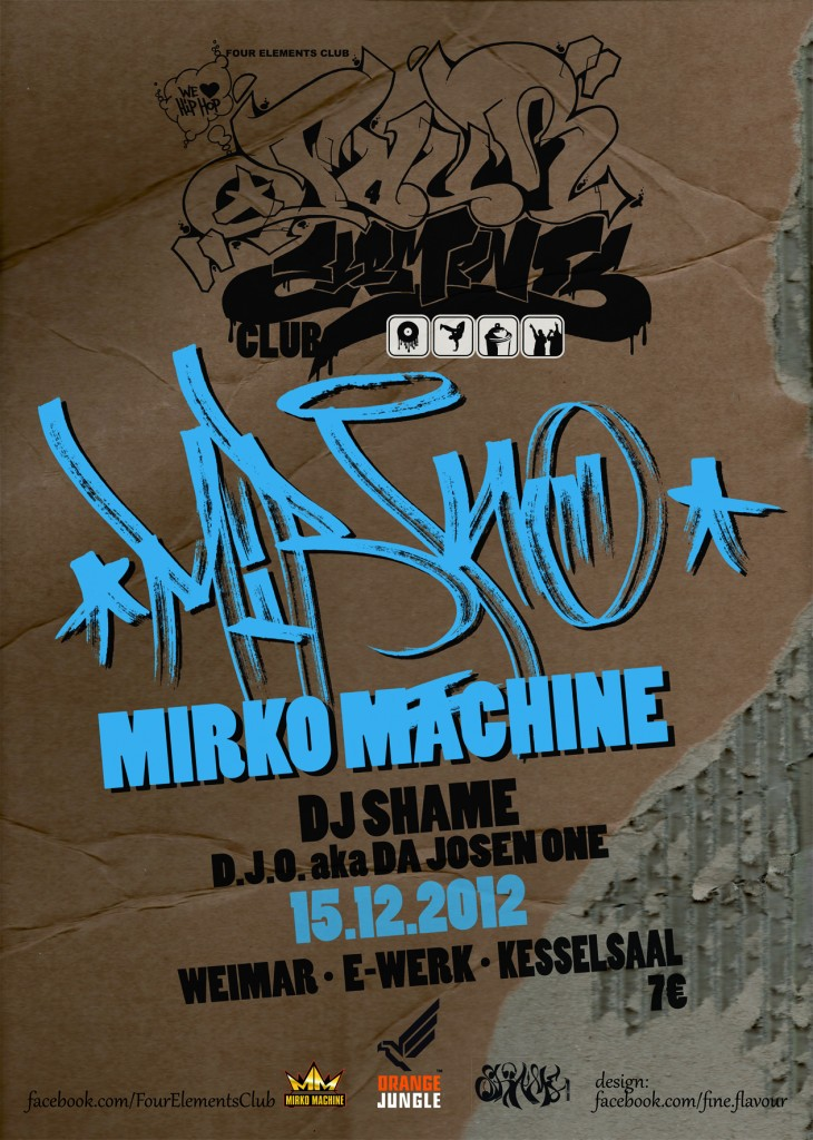 4 Elements Club DJ Shame mit Mirko Machine & D.J.O.