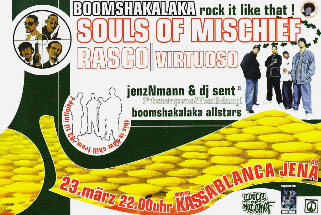 DJ Shame mit Souls Of Mischief Rasco & Virtuoso